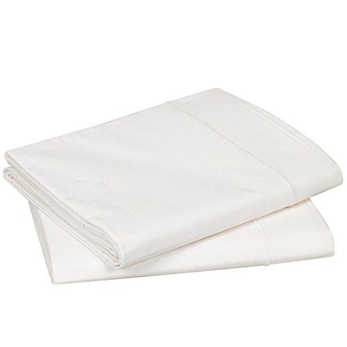 Blanc des Vosges Uni Percale Drap Coton Nougat 280 x 320 cm