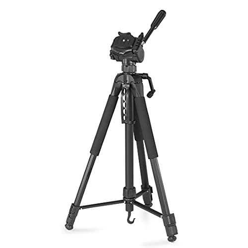 Hama Treppiede Action 170 3D (Tripod con altezza di 62-170 cm, supporto per cellulare e tablet, treppiedi con testa a 3 vie, treppiede per cellulare con borsa per il trasporto, nero