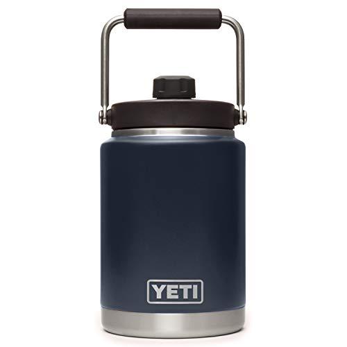 YETI Rambler Half Gallon Jug, Vacuum Insulated, Stainless Steel with MagCap, Navy