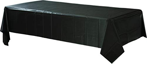 Amscan - Mantel de plástico rectangular, color negro (77015-10A)