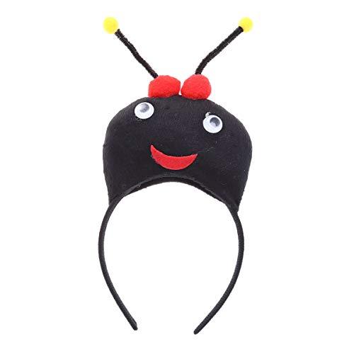 BESTOYARD Animales Orejas Diadema Cartoon Ant Party Cosplay Hair Hoop Vestido Headwear Negro