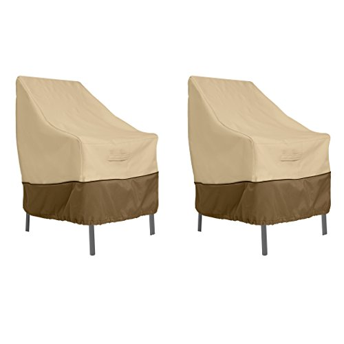 Classic Accessories Veranda WaterResistant 255 Inch High Back Patio Chair Cover 2Pack