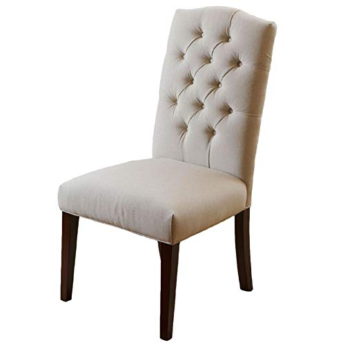 Christopher Knight Home Crown Fabric Dining Chairs, 2-Pcs Set, Off-White