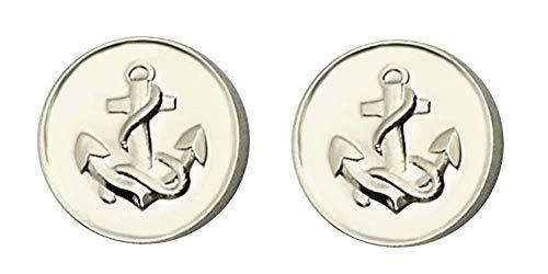 magdalena r. Manschettenknöpfe Anker 925er Silber rund 17 mm m.i. Germany + Geschenkbox