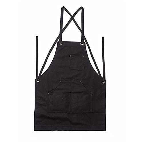 XQWR Unisex Schürze Canvas Schürze Tischlerschürze Gartenschürze Arbeitsschürze mit Mehreren Taschen