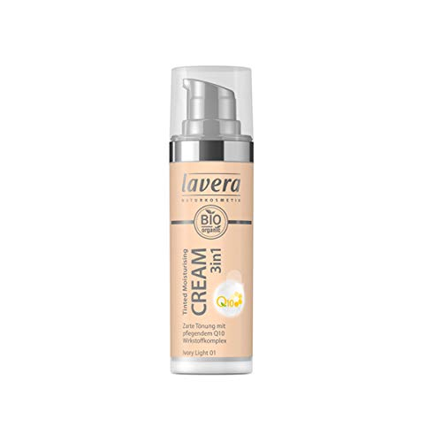 Lavera Bio Tinted Moisturising Cream 3in1 Q10 -Ivory Light 01- (6 x 30 ml)