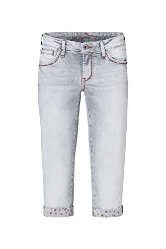 SOCCX Damen Bermudas Jeans RO:My mit bedruckter Innenseite