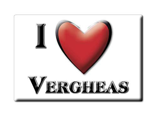 Enjoymagnets VERGHEAS (63) Souvenir IMANES DE Nevera Francia Alsace IMAN Fridge Magnet Corazon I Love