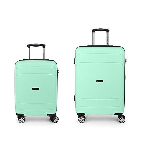 Gabol Shibuya | Kofferset harde koffer groen met koffer en trolley Medium