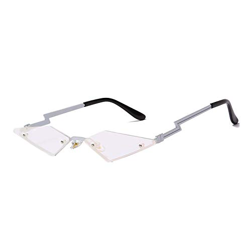 NJJX Gafas De Sol De Ojo De Gato A La Moda, Gafas De Sol Sin Montura De Metal De Lujo Para Mujer, Gafas De Sol De Tendencia Para Mujer, Gafas 04