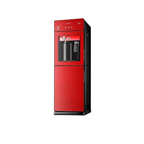 Mejore Dispensador de agua vertical caliente y frío Bloqueo automático para niños automático Velocidad de bilis de acero inoxidable 304 Máquina de té caliente caliente (Color: A, Tamaño: Tipo cálido