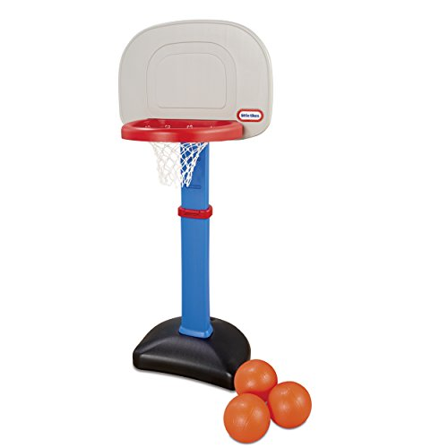Image of the Little Tikes Easy Score Basketball Set, Blue, 3 Balls - Amazon Exclusive