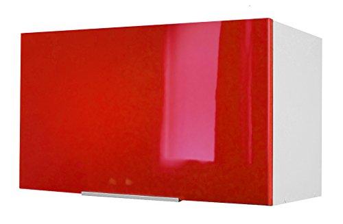 Berlioz Creations - Mobile alto da cucina sopra cappa, Altro, Rosso altamente brillante, 60 x 34 x 35 cm