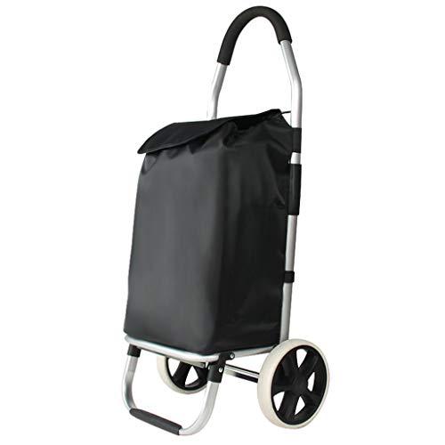 RTTgv Einkaufstrolleys Einkaufswagen Einkaufswagen mit großem Fassungsvermögen, Light-Wheel-Einkaufswagen, Faltwagen, Leichtes Treppenrad