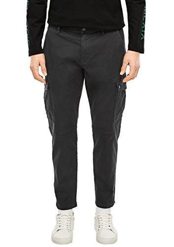 s.Oliver Herren New Fit: Tapered Cargo-Hose charcoal 31.32