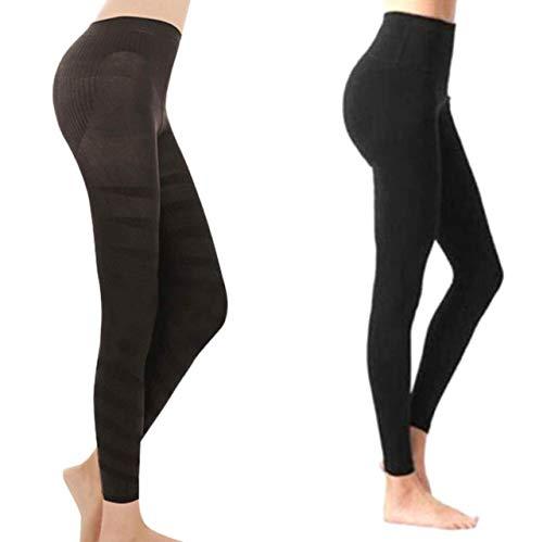 Zoomarlous - Leggings moldeadores para mujer, suaves, con cintura alta, color negro, L*8pairs, M/L