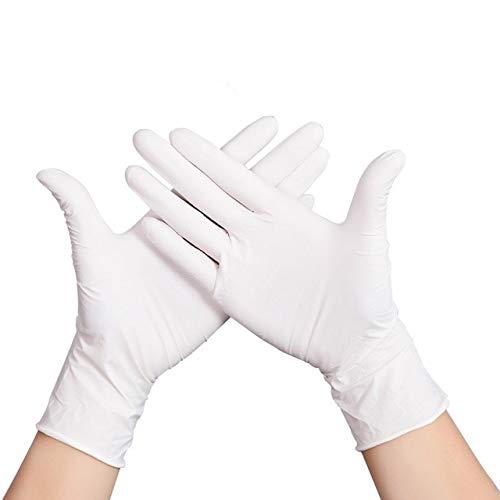100 stuks / Lot gebruikt en gooien handschoenen / in latex super dunne handschoenen / voor thuis gebruik 4 maten gezondheid kinderbescherming handschoenen voor volwassenen M. Wit 100 stuks