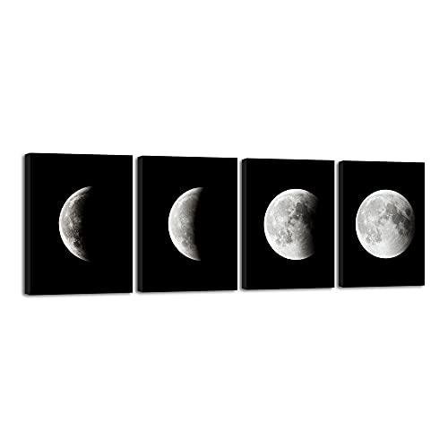 Wieco Art - Modern Giclee Canvas Prints Stretched Artwork Abstract Space...