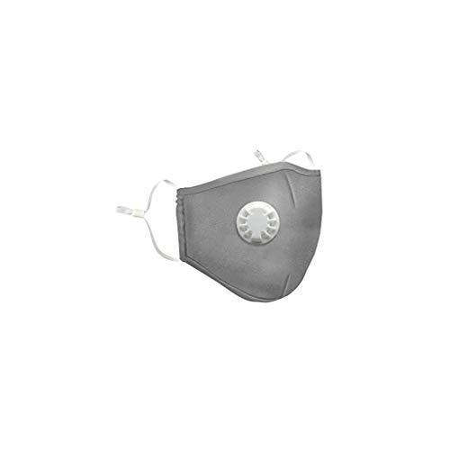 LLonGao Widerverwendbare Staubschutzmasken, Staubmaske PM2.5 Winddichtes Mundschutz Maske mit Atemventil Luftfilter für Pollen Feinstaub Allergie Rauch Sport Atemschutzmasken