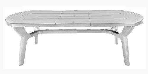 Table de jardin extensible en plastique/résine 180 - 230 cm Bianco