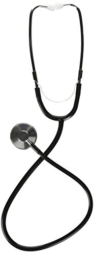 Medline Single-Head Stethoscope, Black