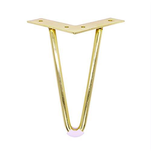SHIZHI 4pcs 6 o 7 Pulgadas de Oro de Las Patas de Horquilla para Instalar Patas de Metal para Muebles de Muebles de Mediados de Siglo, Patas Modernas para café y mesas Finales. (Color : 7Inch)