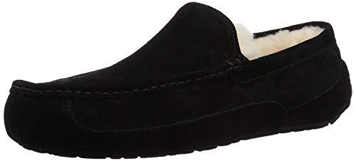 UGG Male Ascot Slipper, Black, 10 (UK)