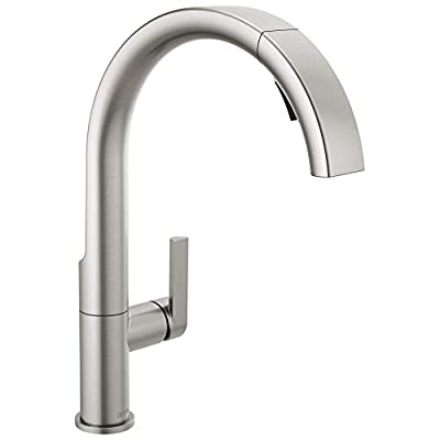 Delta Faucet Keele Kitchen Faucet with Pull Down Sprayer, Kitchen Sink Faucet, Faucets for Kitchen Sinks, Single-Handle, Magnetic Docking Spray Head, SpotShield Stainless 19824LF-SP