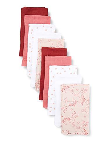 Care Langes, multicolore (Pink) - Mixte Bébé - 70x70 cm - Lot de 10