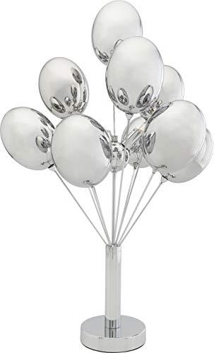 Kare Design Tischleuchte Silver Balloons, silberne Tischlampe mit Glasschirmen in Balloonoptik, große moderne Leuchte Sideboard, Wohnzimmer, (H/B/T) 68x36x36cm