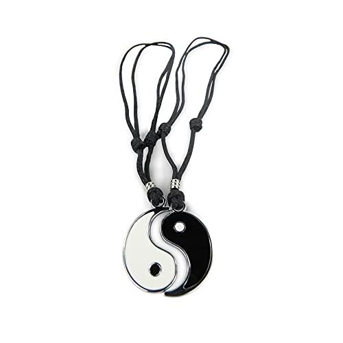 Colgantes Yin Yang / Acero Inoxidable Ajustable /Collar Masculino/Femenino/Unisex | Regalo Parejas y Amigos (Yin Yang 2pcs)