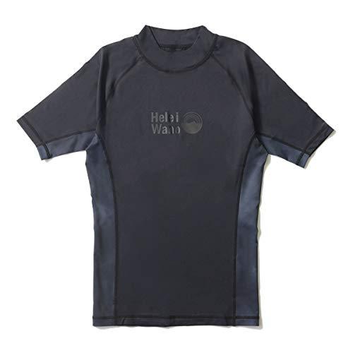ラッシュガード メンズ HeleiWaho ヘレイワホ 半袖 プルオーバー UPF50+ M BK/tiedyeBK