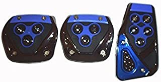 LAXON - 3 Pcs Generic Non-Slip Racing Sport Manual Car Truck Pedals kit Pad Covers Set for Baleno, Ecosport, Eon, i10 & Thar & other Cars | Color - Blue | Universal size 5.9X5.1X0.8 Inches