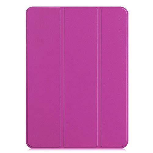 YYLKKB para iPad Pro 11 2018 Funda Protectora Inteligente para Apple iPad Pro 11 Pulgadas Triple de Lujo Funda magnética ultradelgada de Cuero PU-púrpura_iPad Pro 11 2018