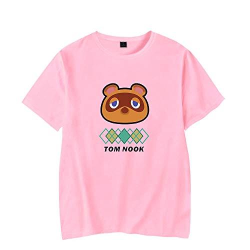 Camiseta De Verano De Manga Corta con Cuello Redondo para Ho