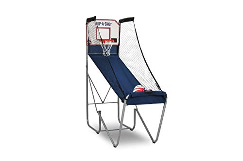 Pop-A-Shot Official Home Single Shot Basketball Arcade Game - 10 Different Games - 6 Audio Options - Near 100% Scoring Accuracy - Large LED Scoreboard