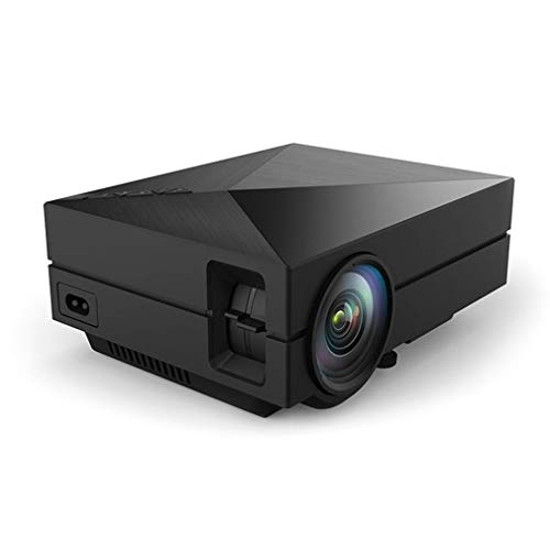 ZQALOVE Tragbarer Projektor Heim Gm60 Mini-Unterstützung HD 1080P Klein-Projektor LED-Projektor 30-130 Zoll Projektionsgröße (Plugs Type : US)