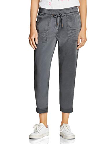 CECIL Damen 372389 Chelsea Loose Fit Hose, Grau (graphite light grey 10498), W27/L28(Herstellergröße:27)