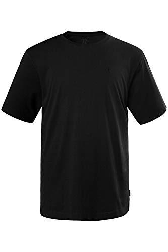 JP 1880 Herren große Größen T-Shirt, Halbarm, Rundhalsausschnitt, Motiv auf der Brust schwarz 5XL 702558 10-5XL