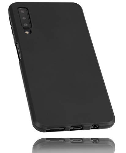mumbi Hülle kompatibel mit Samsung Galaxy A7 2018 Handy Hülle Handyhülle, schwarz