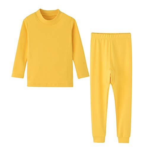 Toddler Boys Long Johns Base Layer Yellow 3T