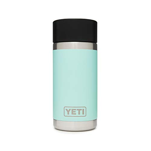 YETI Rambler 12 oz Bottle, Stainless Steel, Vacuum Insulated, with Hot Shot Cap, Seafoam