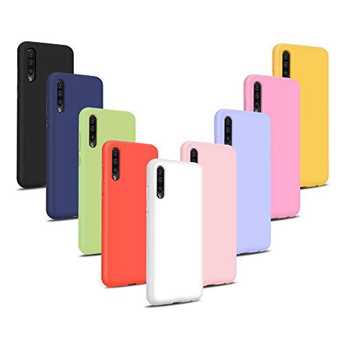 9X Cover per Xiaomi Mi A3, Morbido Silicone Case Tinta Unita Ultra Sottile Custodia TPU Flessibile Gomma Protezione Posteriore Antiscivolo Protettiva Skin Caso - 9 Colori