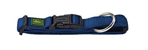 HUNTER VARIO PLUS Hundehalsung, Hundehalsband, Zugentlastung, robust, geschmeidig, Klickverschluss, M-L/2,0, marine