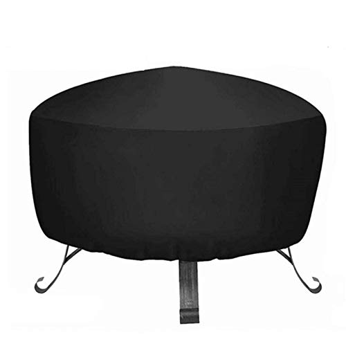 Wood Fire Pits Outdoor Fire Pit Cover Round,Water-Resistant 36 Inch Round High Density Oxford Cloth Fire Pit Cover (Size : 85x40cm)