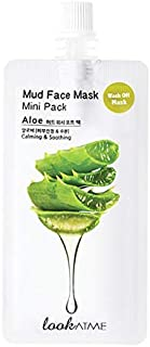 Look At Me Mud Face Mask (2-Pack) for Skin Care with Aloe Vera, Natural Mud Mask for Moisturizing, Acne & P...