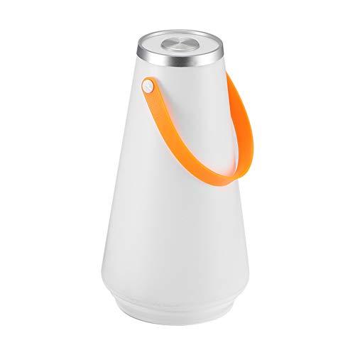 Vvciic - Lámpara de mesa portátil LED inalámbrico, recargable, táctil, interruptor exterior, camping, girofaro