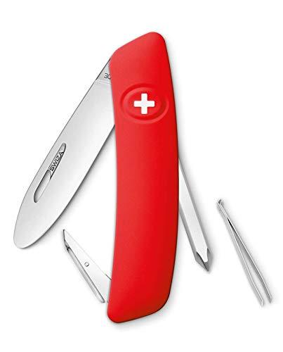 SWIZA Kinder Schweizer Messer J02 JUNIOR rot 6 Funktionen Taschenmesser, One Size