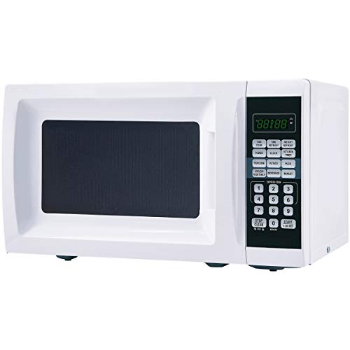Mainstays 0.7 cu. ft. 700-Watt Microwave White with 10 Power Levels (L x W x H) 17.30 x 13.40 x 10.20 Inches