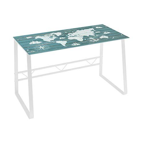Mesa Escritorio de Cristal Blanca Vintage para Dormitorio Bretaña - LOLAhome
